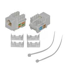 Network module (JACK COUPLE) 110 type,Cat 6 UTP ,White
