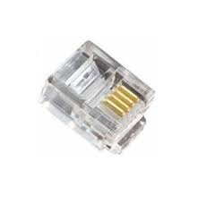 Plug Rj11(Plastic Bag 100 Pcs)