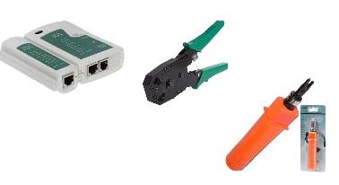 Mki Red tools Set (Crimpimg , Impact punching ,Network Tester)